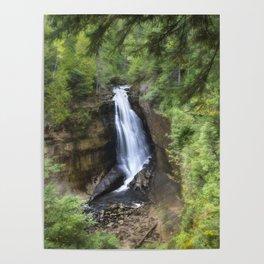 Miners Falls, Munising, Michigan. Poster