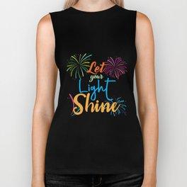 Shine Let your light shine bright firework flowers colours nice beauty love Biker Tank