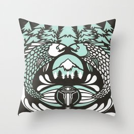 Astrology Northwest: Pisces Throw Pillow