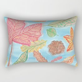 Leaves in the lake Rectangular Pillow