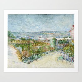 Vegetable Gardens at Montmartre by Vincent van Gogh Art Print