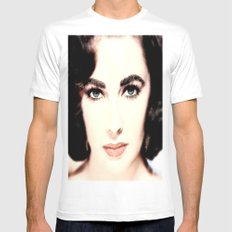 Elizabeth Taylor Face Mens Fitted Tee MEDIUM White