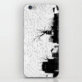 NYC splatterscape iPhone Skin