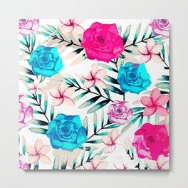 Elegant Watercolor Floral Art Metal Print