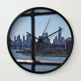 Lower Manhattan skyline 2 Wall Clock