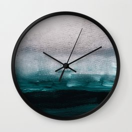 pale pink over dark teal Wall Clock