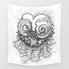 Space Owl Wall Tapestry