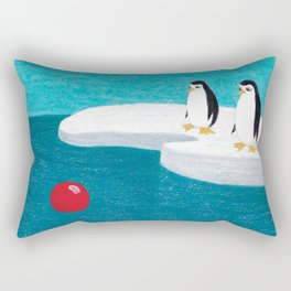 The Adventures of Red Ball - At the South Pole. Rectangular Pillow
