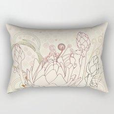 Peach and purple  artichoke Rectangular Pillow