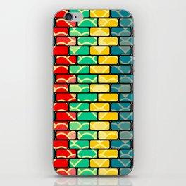 Colorful bricks iPhone Skin