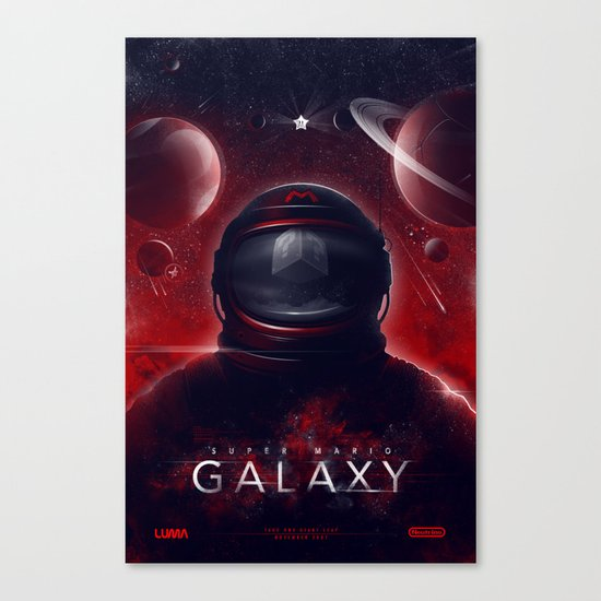 Super Mario Galaxy Canvas Print