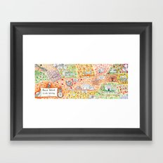 Sauvie Island Bike Loop Map Framed Art Print