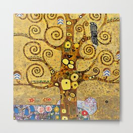 "Gustav Klimt, "" Tree of life "" Metal Print"