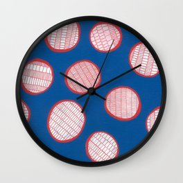 Circles and lines Wall Clock