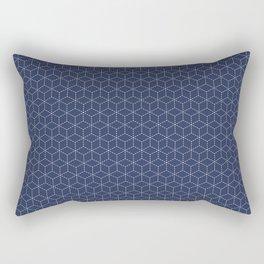Sashiko stitching indigo pattern 1 Rectangular Pillow
