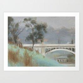 CLARICE BECKETT, CHURCH STREET BRIDGE, RICHMOND Art Print