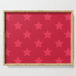 Red stars Serving Tray