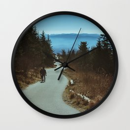 Path up the Great Smoky Mountains Wall Clock