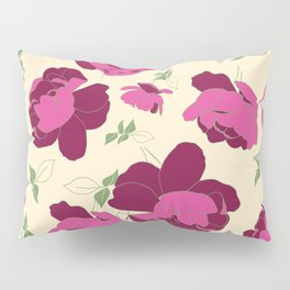 English Roses in Pink and Cream Pillow Sham