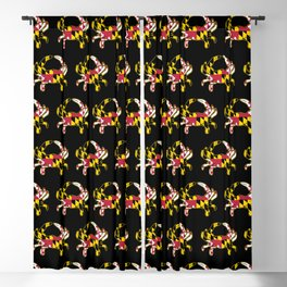 Maryland Flag Crab Blackout Curtain