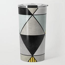 Colorful Concrete Triangles 2 - Yellow, Blue, Grey Travel Mug
