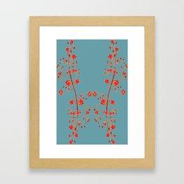 2941-Illawarra-Flame-Tree#1-Teal Framed Art Print