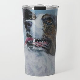 The Cardigan Welsh Corgi dog art portrait from an original painting by L.A.Shepard Travel Mug