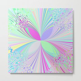 Brights and Pastels Metal Print