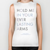 vampire weekend Biker Tanks featuring Vampire Weekend - HOLD ME IN YOUR EVERLASTING ARMS by Corrie Jacobs