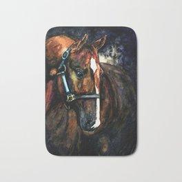 Dark Horse Watercolour Bath Mat