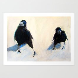 'Whats up, Lads?'  (2 Crows) Art Print