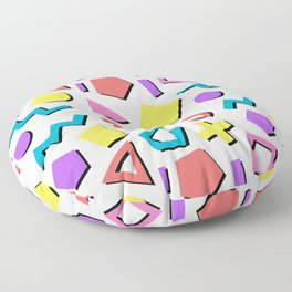 Playful Toy Box Potpourri of Colorful Shapes Pattern Floor Pillow