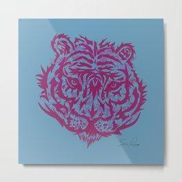 Cara de tigre Metal Print