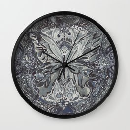 Butterfly lace Wall Clock