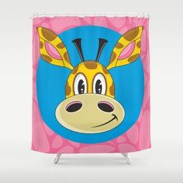 Cute Cartoon Giraffe Shower Curtain