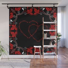 Hearts Entwine Wall Mural