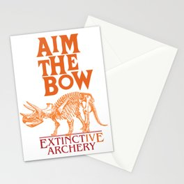 "AIM THE BOW - EXTINCT""IVE"" ARCHERY / 70s RETRO Stationery Cards"