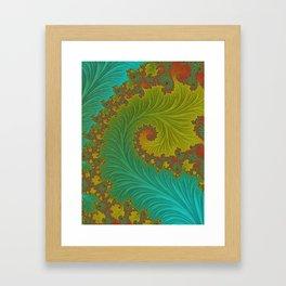 Velvet Crush - Teal and Tangerine Framed Art Print