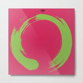 Zen circle yellow green purple red art print Metal Print