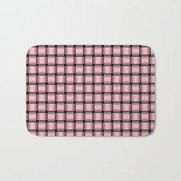 Small Light Pink Weave Bath Mat