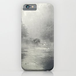 fog and light on the river iPhone Case