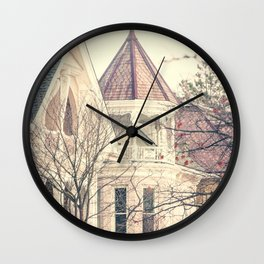 Victorian House Photography Wall Clock