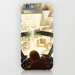 Nose Dive Into the City by T. Crali iPhone Case