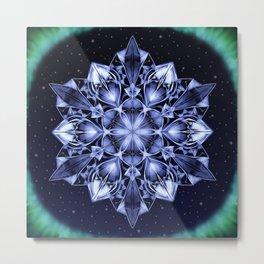 Crystal Aurora Metal Print