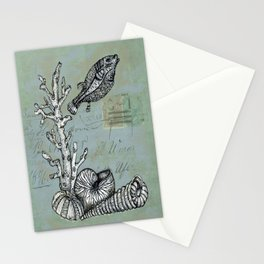 Vintage Shells Stationery Cards