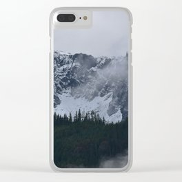 Gray morning in Squamish Clear iPhone Case