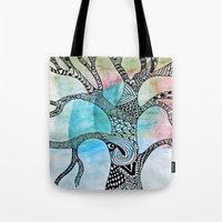 twilight Tote Bags featuring Twilight by neena
