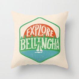 Explore Bellingham Throw Pillow