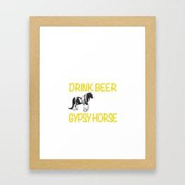 Wine and Gypsy Horse Framed Art Print