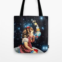 eugenia loli Tote Bags featuring Maker by Eugenia Loli